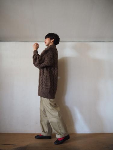 LENO Big Cable Sweater_e0357389_14464002.jpg
