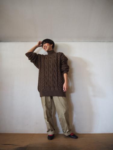 LENO Big Cable Sweater_e0357389_14464246.jpg