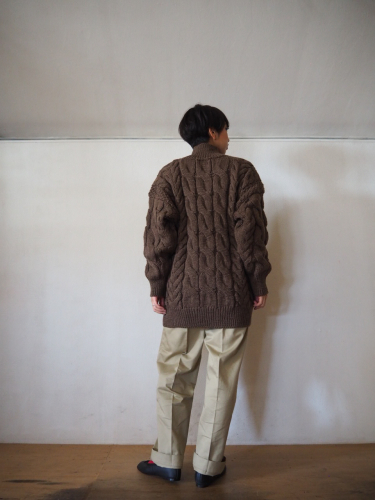LENO Big Cable Sweater_e0357389_14472902.jpg