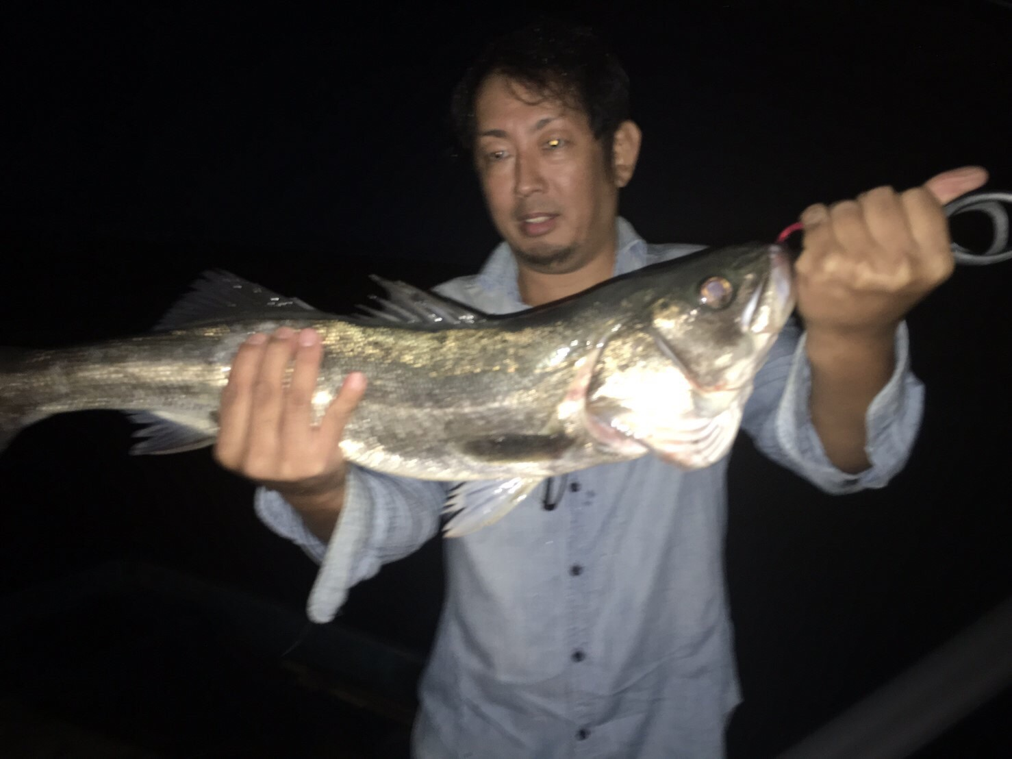 こんな所で巨大魚が爆釣 2019.10_e0115904_19462196.jpg