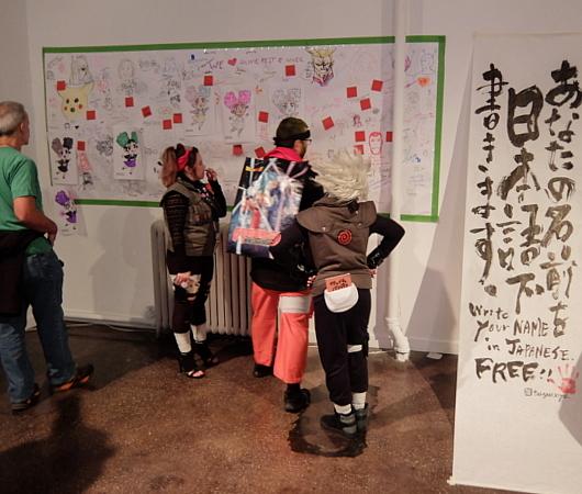 アニメ・ファンの愛がいっぱいな寄せ書き、Anime Fest @ NYCC x Anime Expo_b0007805_07180810.jpg