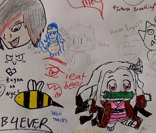アニメ・ファンの愛がいっぱいな寄せ書き、Anime Fest @ NYCC x Anime Expo_b0007805_07214210.jpg