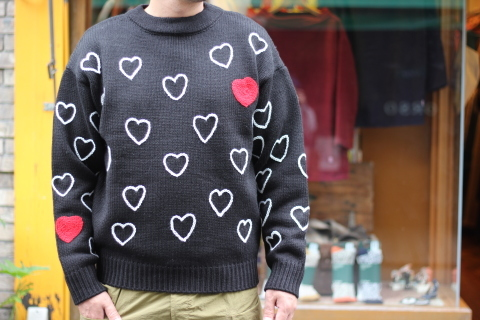 "「ChahChah」 遊び心満載の ""HEARTFUL HAND EMBROIDERY KNIT\"" ご紹介_f0191324_07484644.jpg"