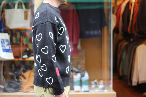 """「ChahChah」 遊び心満載の \""""HEARTFUL HAND EMBROIDERY KNIT\"""" ご紹介_f0191324_07485771.jpg"""