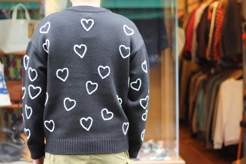 """「ChahChah」 遊び心満載の \""""HEARTFUL HAND EMBROIDERY KNIT\"""" ご紹介_f0191324_07490539.jpg"""