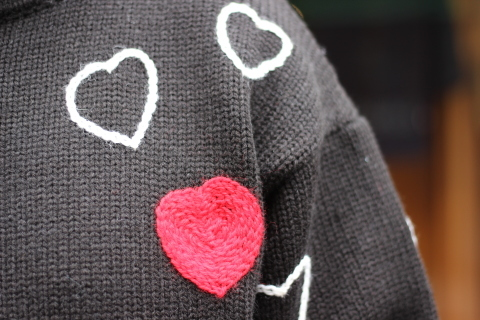 """「ChahChah」 遊び心満載の \""""HEARTFUL HAND EMBROIDERY KNIT\"""" ご紹介_f0191324_07492276.jpg"""