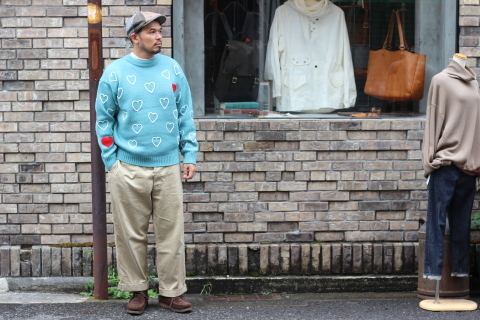 "「ChahChah」 遊び心満載の ""HEARTFUL HAND EMBROIDERY KNIT\"" ご紹介_f0191324_07501445.jpg"