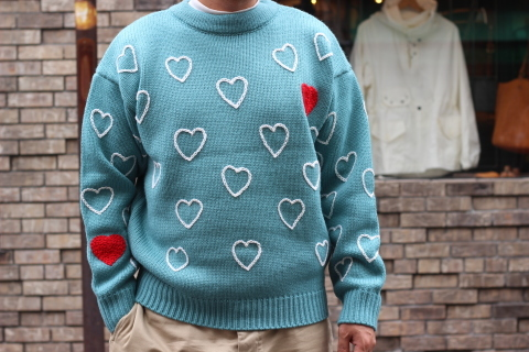 """「ChahChah」 遊び心満載の \""""HEARTFUL HAND EMBROIDERY KNIT\"""" ご紹介_f0191324_07502953.jpg"""