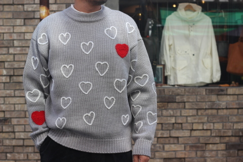 "「ChahChah」 遊び心満載の ""HEARTFUL HAND EMBROIDERY KNIT\"" ご紹介_f0191324_07515204.jpg"