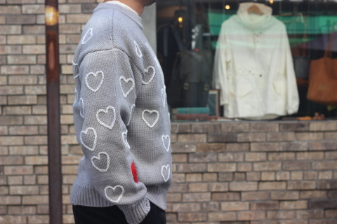 """「ChahChah」 遊び心満載の \""""HEARTFUL HAND EMBROIDERY KNIT\"""" ご紹介_f0191324_07520895.jpg"""