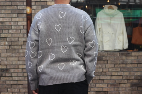 """「ChahChah」 遊び心満載の \""""HEARTFUL HAND EMBROIDERY KNIT\"""" ご紹介_f0191324_07521705.jpg"""