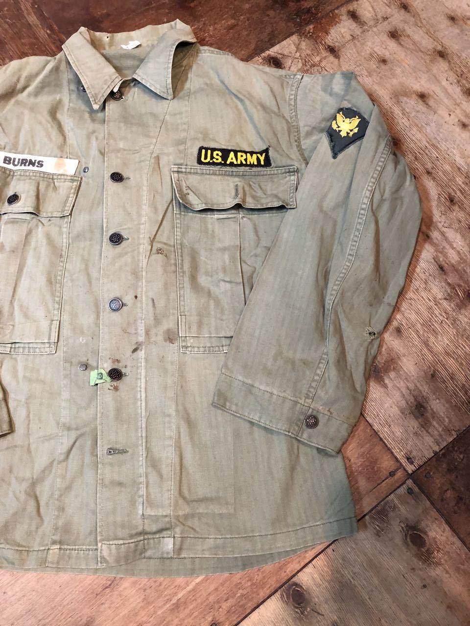 10月12日(土)入荷!40s WW2 M-43 HBT 13STAR ボタン フィールドジャケット!_c0144020_13432288.jpg