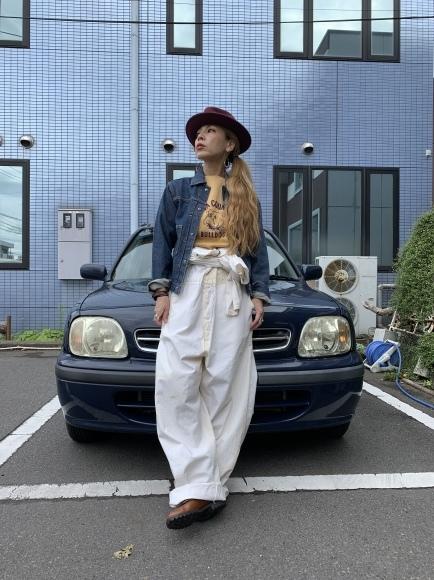 vintage スエットコーデ&二階の帽子_a0108963_01085581.jpeg