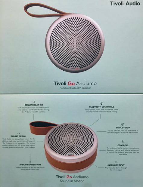 ファーストインプレッションとしては、「音がよすぎ!!!!」...Tivoli Audio Andiamo_b0125570_10510485.jpg