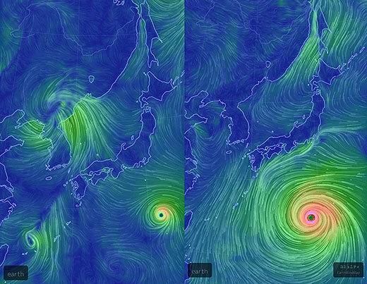 左が先日15号、右が今回の台風、5倍くらいないか_d0061678_12130326.jpg