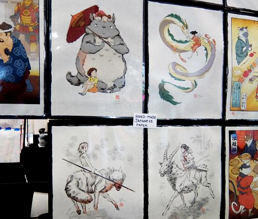 浮世絵風になった日本の漫画やアニメのキャラクター、Ukiyo-e Heroes_b0007805_05460878.jpg