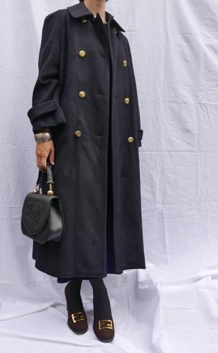 Celine wool coat Navy_f0144612_08464132.jpg