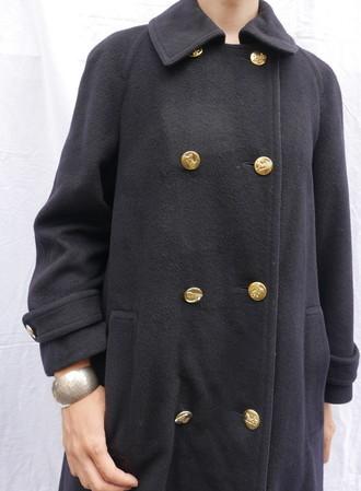 Celine wool coat Navy_f0144612_08464158.jpg