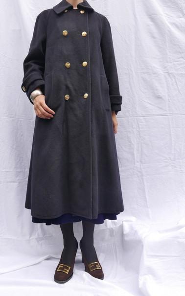 Celine wool coat Navy_f0144612_08464188.jpg