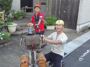子どもの夏休みの川遊びタンデム行_f0016281_09345453.jpg