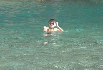 子どもの夏休みの川遊びタンデム行_f0016281_09371151.jpg