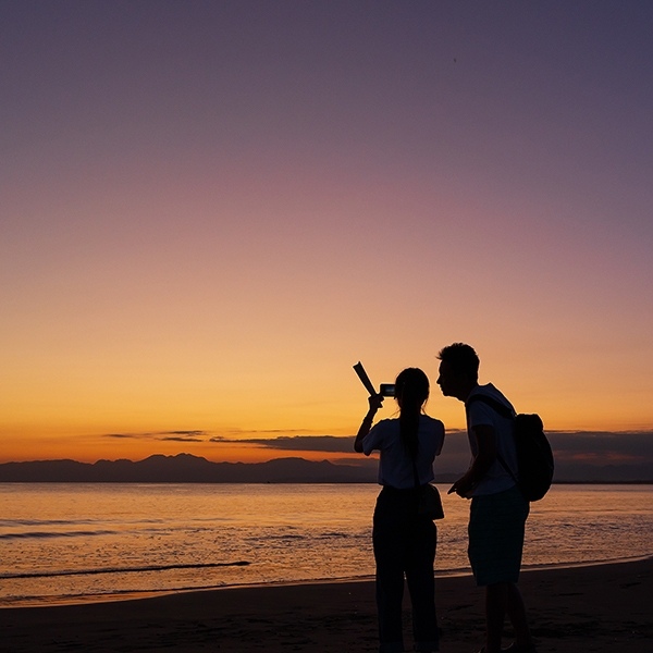 片瀬海岸西浜からのマジックアワー_b0145398_20515810.jpg