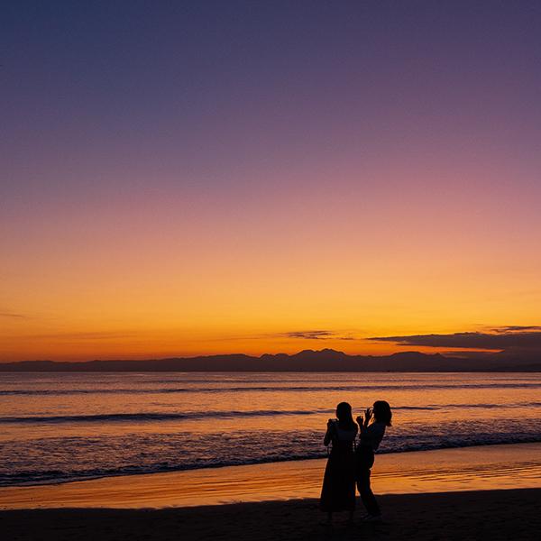 片瀬海岸西浜からのマジックアワー_b0145398_20524358.jpg