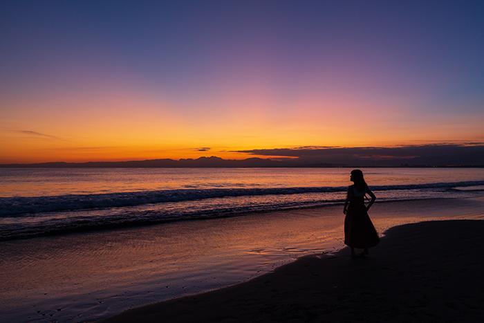 片瀬海岸西浜からのマジックアワー_b0145398_20541210.jpg