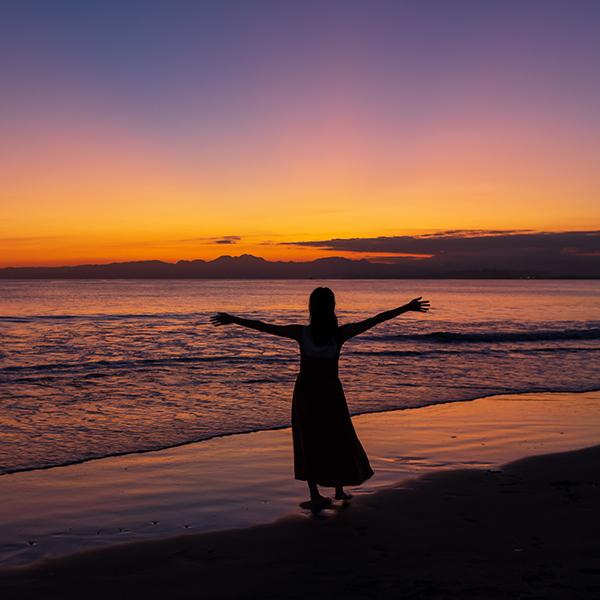 片瀬海岸西浜からのマジックアワー_b0145398_20545368.jpg