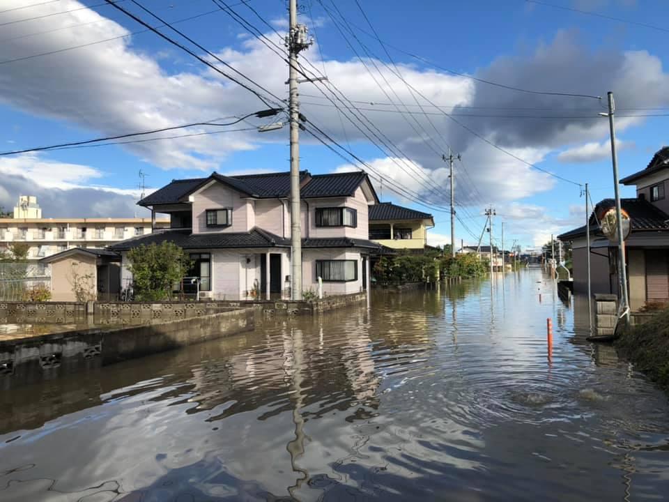 『台風19号 郡山市内 水害 朝6時』 _f0259324_22042805.jpg