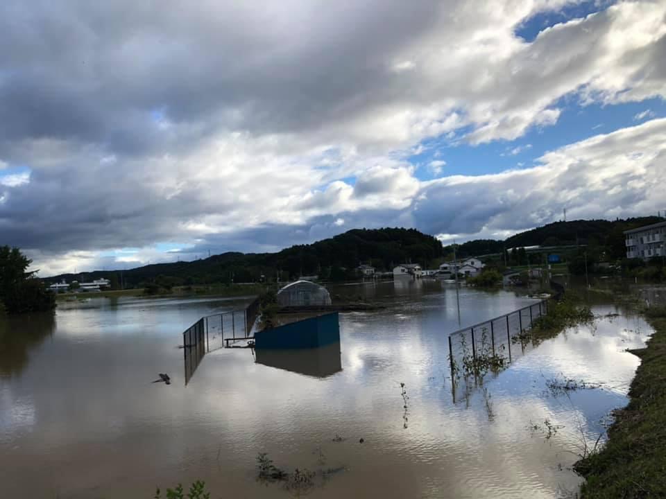『台風19号 郡山市内 水害 朝6時』 _f0259324_22042810.jpg