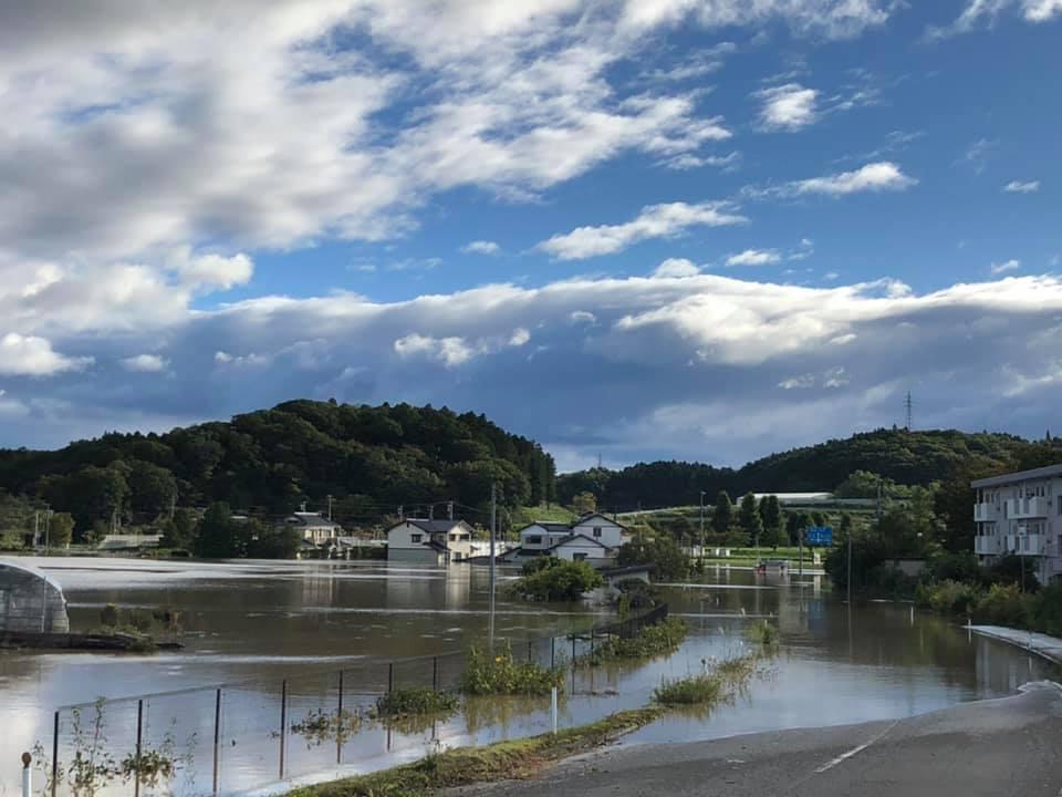 『台風19号 郡山市内 水害 朝6時』 _f0259324_22042868.jpg