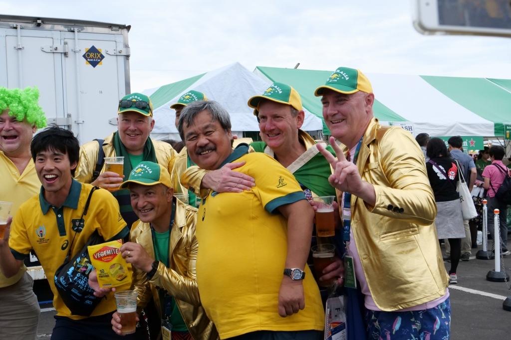 ワールドカップ オーストラリアVSジョージア 静岡エコパ その2 ホスピタリティーブース_f0050534_10275663.jpg