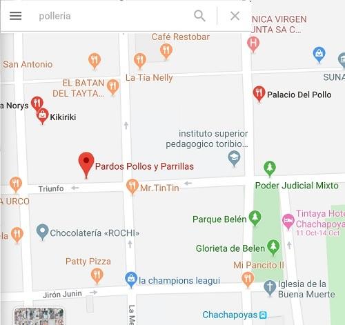 チャチャポヤスのポリェリア polleriaでポジョ4分の1_c0030645_11194586.jpg
