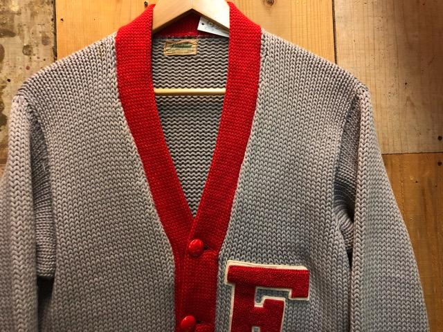 10月16日(水)大阪店ヴィンテージ入荷!!#2 Award Knit編!! LetteredCardigan & AthleticSweater!!_c0078587_2037488.jpg