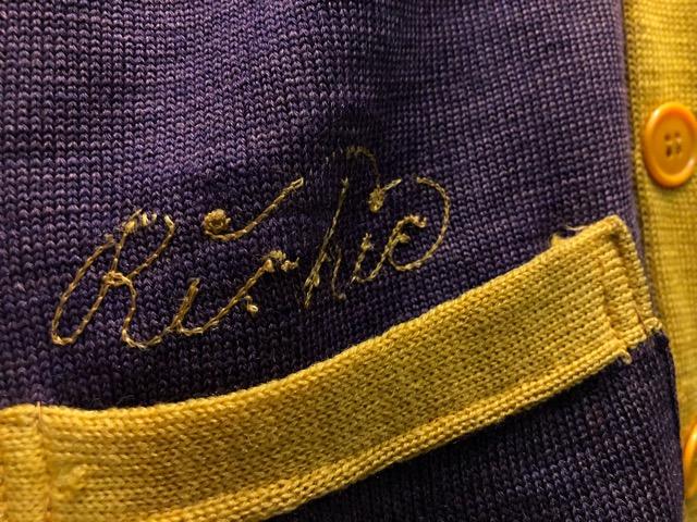 10月16日(水)大阪店ヴィンテージ入荷!!#2 Award Knit編!! LetteredCardigan & AthleticSweater!!_c0078587_21452037.jpg