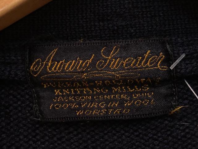 10月16日(水)大阪店ヴィンテージ入荷!!#2 Award Knit編!! LetteredCardigan & AthleticSweater!!_c0078587_2147976.jpg