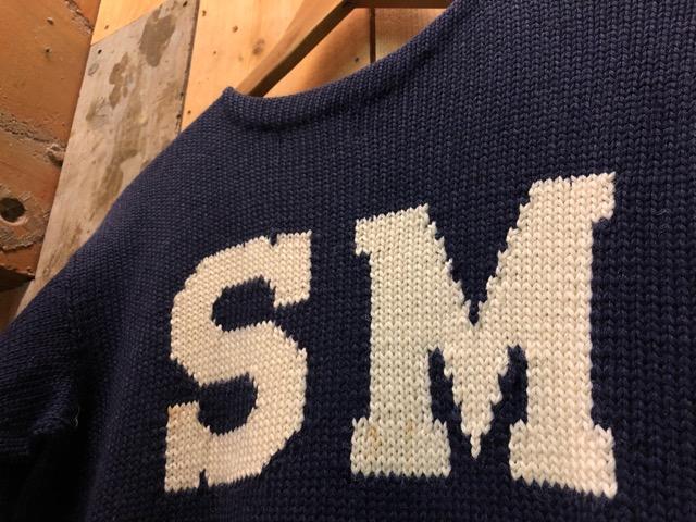 10月16日(水)大阪店ヴィンテージ入荷!!#2 Award Knit編!! LetteredCardigan & AthleticSweater!!_c0078587_2149542.jpg