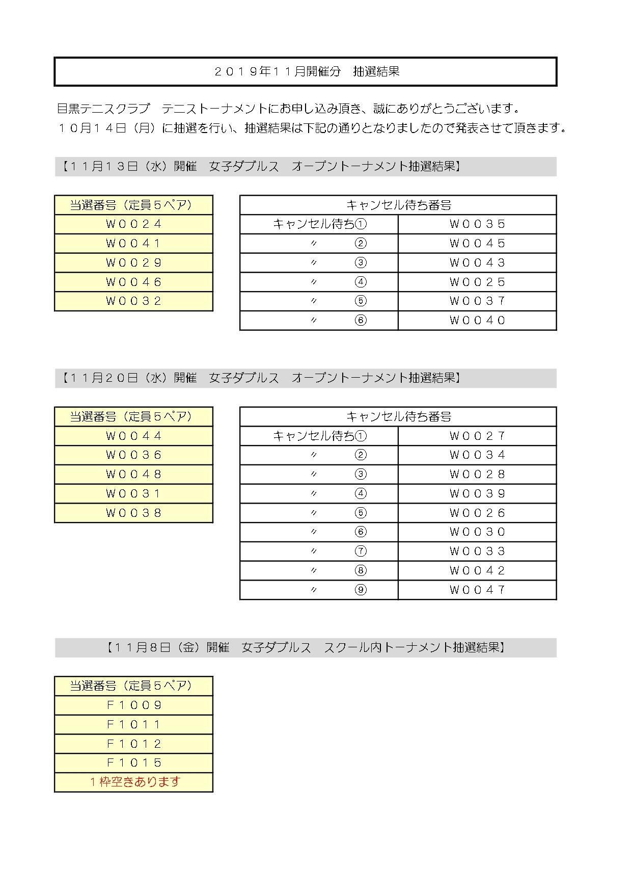 2019年11月トーナメント抽選結果_b0158200_16424472.jpg