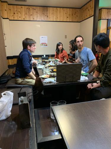 キッチン雅で日米伊の懇親会_d0025421_08592046.jpg