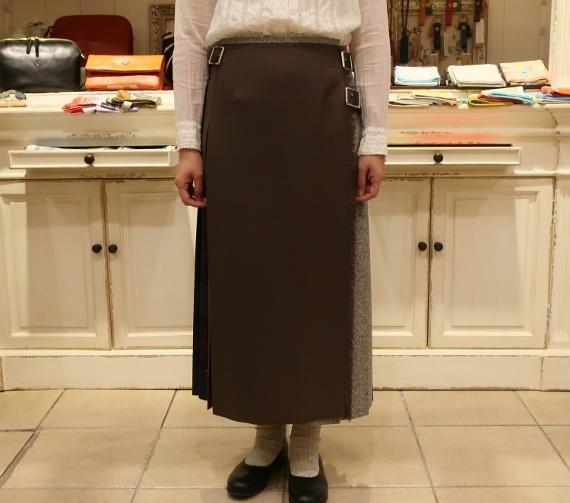 2019年オニールオブダブリン パッチワーク3個ベルトキルトスカートです。_c0227633_12114133.jpg