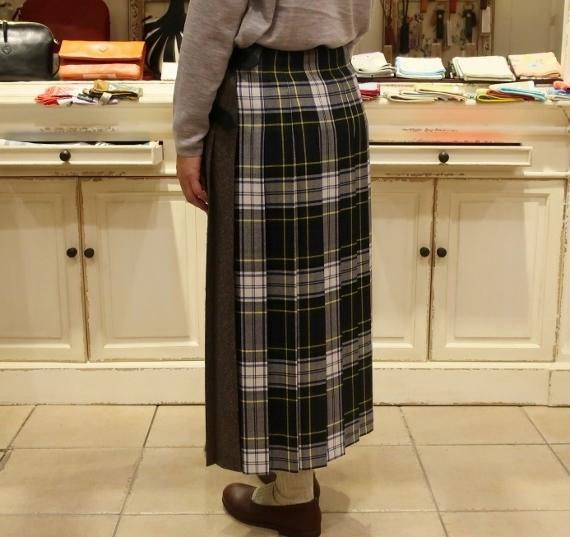 2019年オニールオブダブリン パッチワーク3個ベルトキルトスカートです。_c0227633_12222099.jpg