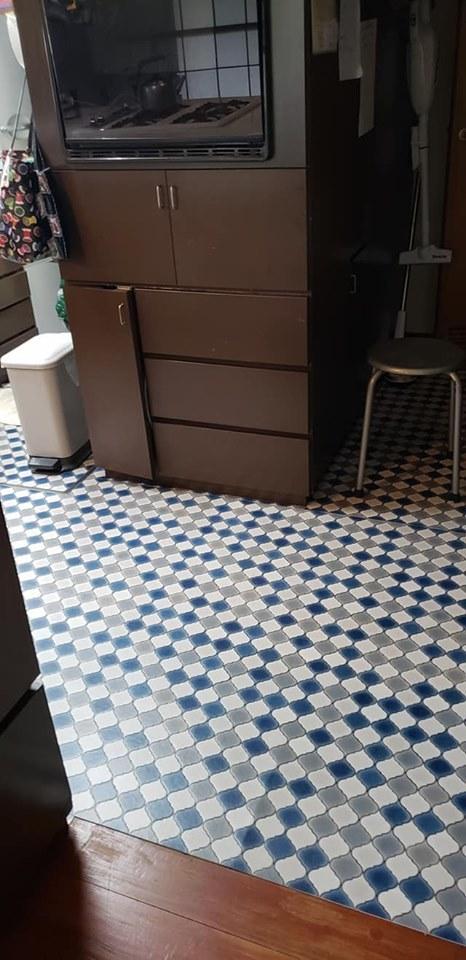 床の張り替えでキッチン模様替え♪_a0077673_10393215.jpg