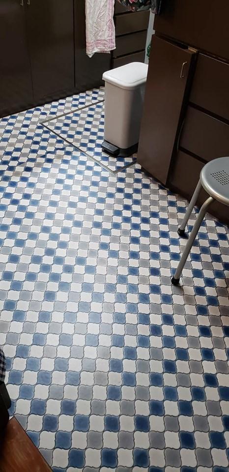 床の張り替えでキッチン模様替え♪_a0077673_10395905.jpg
