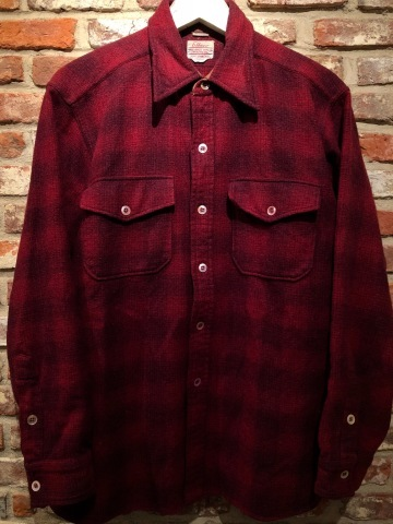 "1940-50s "" Elbeco \"" 100% virgin WOOL VINTAGE - OMBRE CHECK - マチ付き WORK SHIRTS ._d0172088_16280797.jpg"