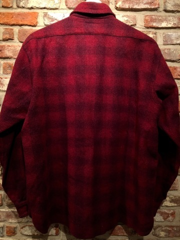"1940-50s "" Elbeco \"" 100% virgin WOOL VINTAGE - OMBRE CHECK - マチ付き WORK SHIRTS ._d0172088_16292183.jpg"