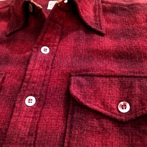 "1940-50s "" Elbeco \"" 100% virgin WOOL VINTAGE - OMBRE CHECK - マチ付き WORK SHIRTS ._d0172088_19171898.jpg"