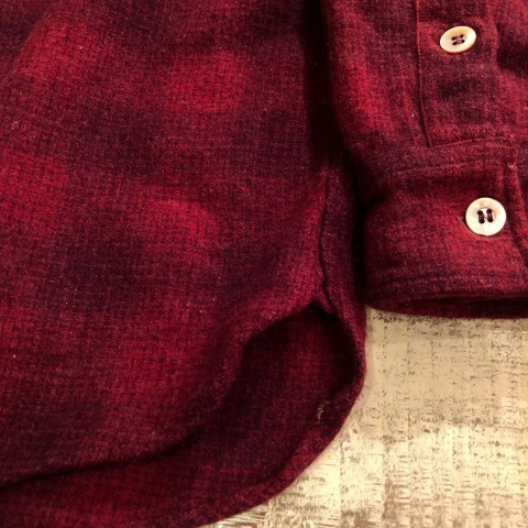 "1940-50s "" Elbeco \"" 100% virgin WOOL VINTAGE - OMBRE CHECK - マチ付き WORK SHIRTS ._d0172088_19184286.jpg"