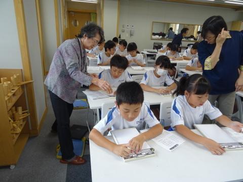 井波小学校で点字の講座_b0159251_15542031.jpg