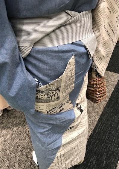 きものサローネ・洋服地でご自分で作られた男性着物。_f0181251_18454879.jpg